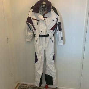 HH Helly Hansen Men's One Piece Ski Suit White